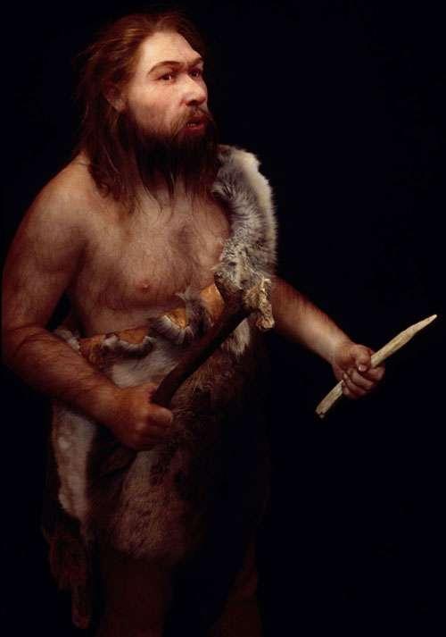 Néandertalien européen (La Ferrassie, Dordogne). © Atelier E. Daynes