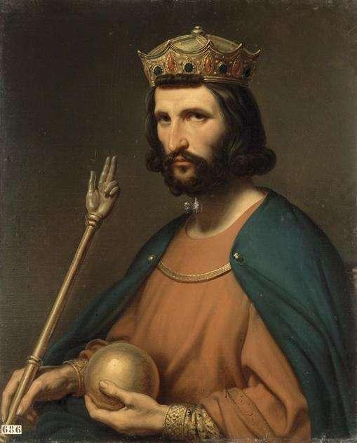 Portrait imaginaire de Hugues Capet par Charles de Steuben, en 1837. © Wikimedia Commons, Domaine Public