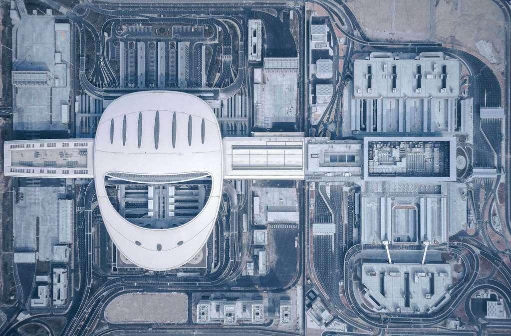 Zone d'échange Hong Kong-Zhuhai-Macau, par Arcplus Ecadi (Chine). © Shao Feng
