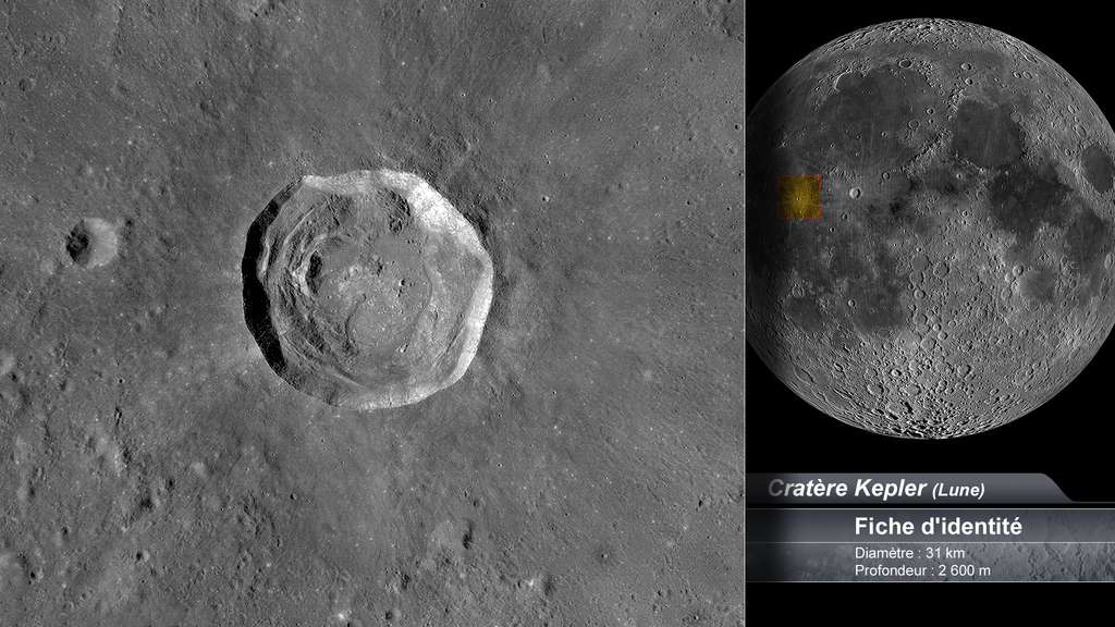 Le cratère Kepler sur la Lune