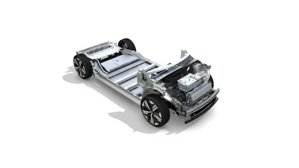 La plateforme CMF-EV sur laquelle est basée la Mégane e-Tech Electric. © Renault
