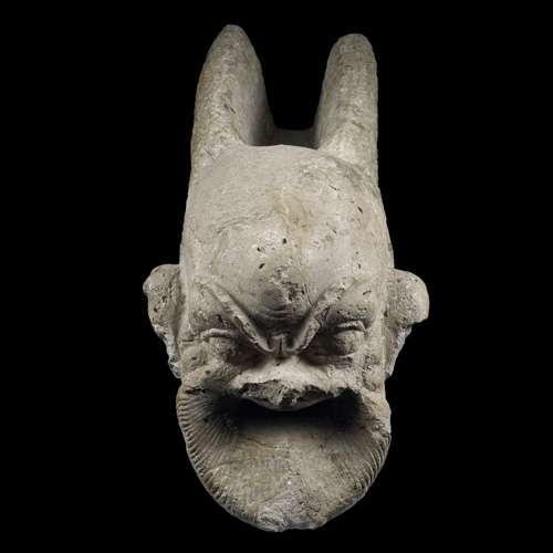 Masque de la fontaine de l'Oxus, à Aï Khanoum