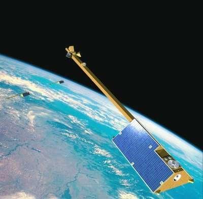 Le programme Swarm fera appel à trois minisatellites pour étudier la dynamique du champ magnétique terrestre et ses interactions avec l'environnement terrestre. © ESA