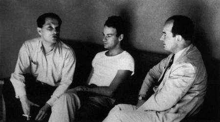De gauche à droite Stanilas Ulam, Richard Feynman et John Von Neuman à Los Alamos. Crédit : AIP