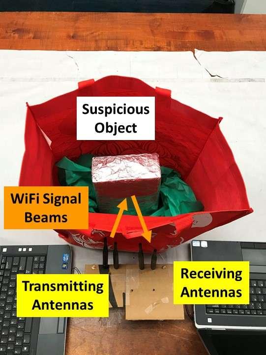 Le dispositif de détection des armes et autres objets dangereux utilise un signal et des équipements Wi-Fi ordinaires. © Rutgers University