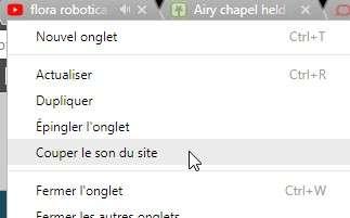 Dans Chrome 64, l'option pour couper le son d'un onglet est accessible d'un clic droit sur celui-ci. © Futura
