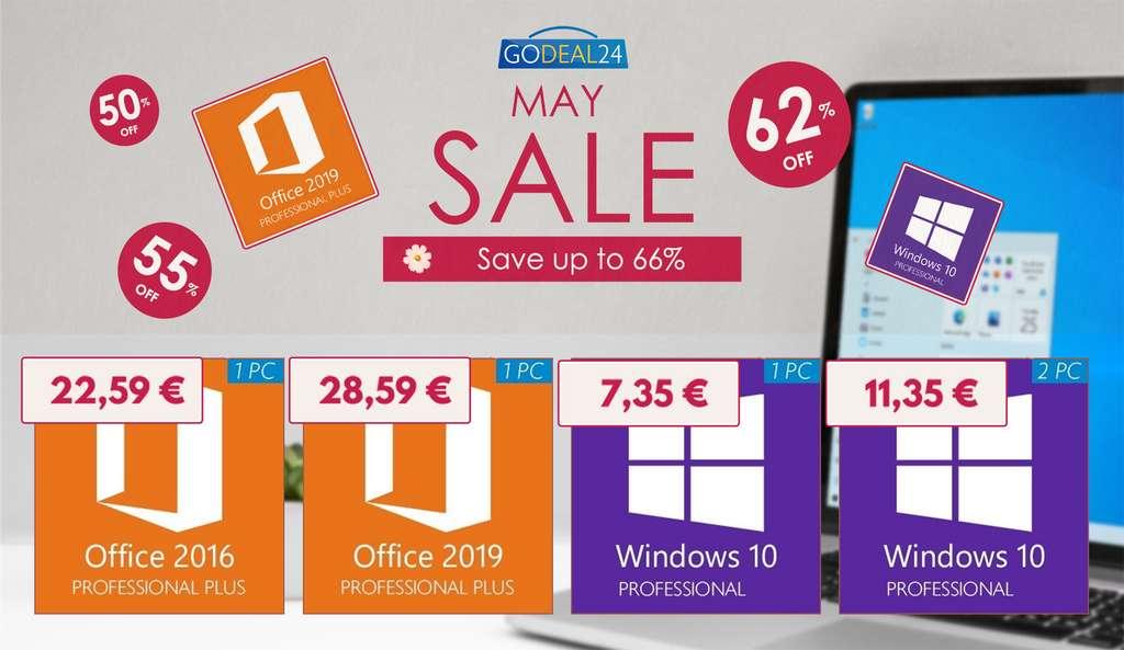 Profitez des offres de Godeal24 pour les logiciels sur ce début du mois de Mai ! © Godeal24