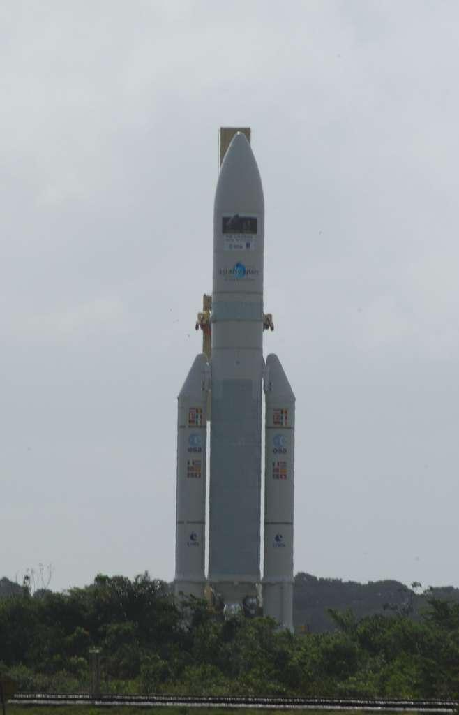 Avec Ariane 6, l'Esa souhaite baisser de façon significative le coût des lancements. Malgré sa capacité à lancer deux satellites, le système Ariane 5 (à l'image) reste cher. © Rémy Decourt