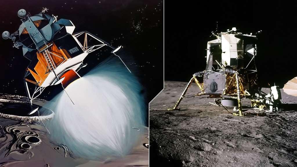 Alunissage du module lunaire