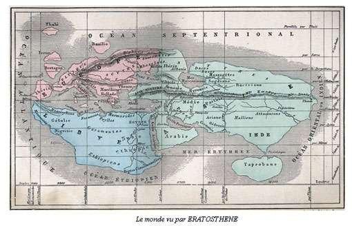 Le monde vu par Ératosthène. © DR
