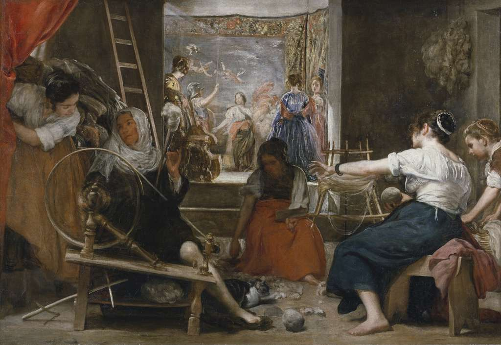 Les Fileuses, peinture de Francisco Goya, exposée au musée du Prado à Madrid. © Wikimedia Commons, DP