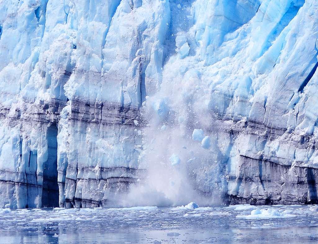 Rupture d'un glacier en Alaska