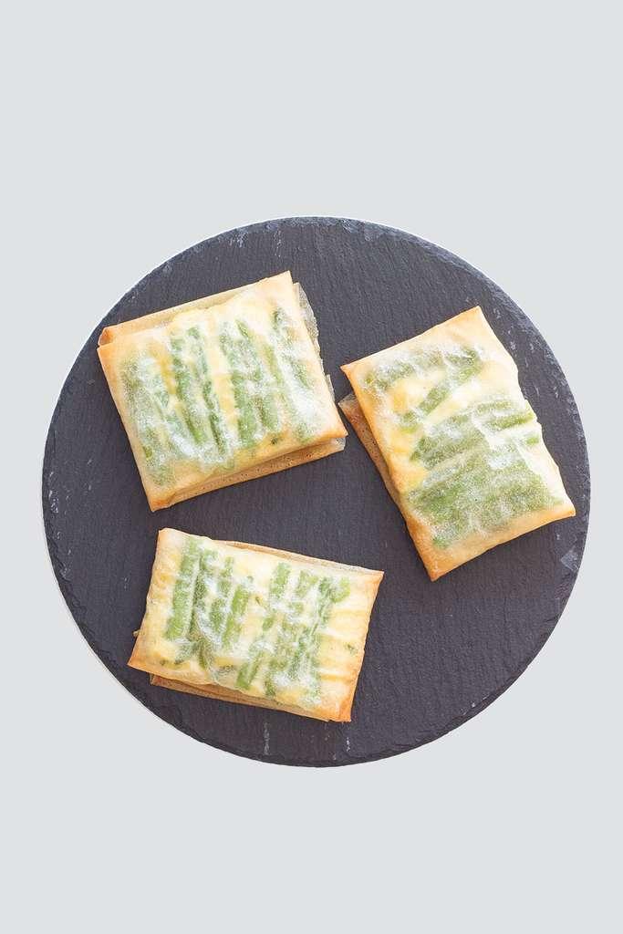 Croustillants de haricots verts à la feta © Èmilie Laraison