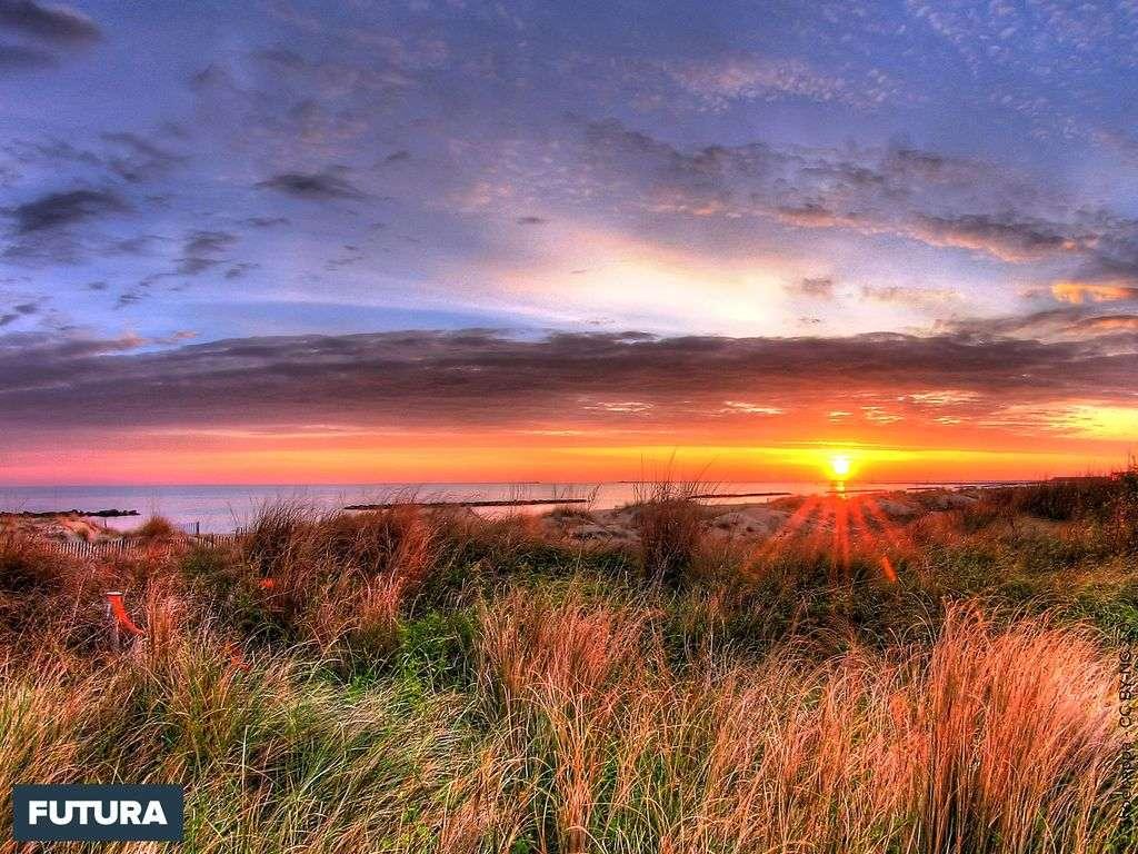 Coucher de soleil à Norfolk