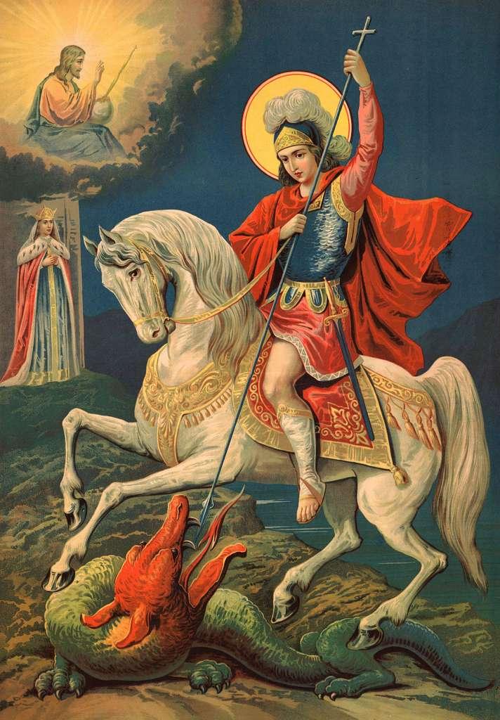 Saint Georges combattant le dragon. © ruskpp, Fotolia