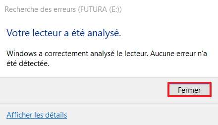L'outil délivre un rapport à la fin de l'analyse. © Microsoft