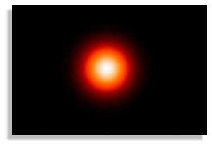 Image obtenue par INTEGRAL. Cette carte et celle du-dessus, sont centrées sur le centre Galactique, et sont représentées à la même échelle.