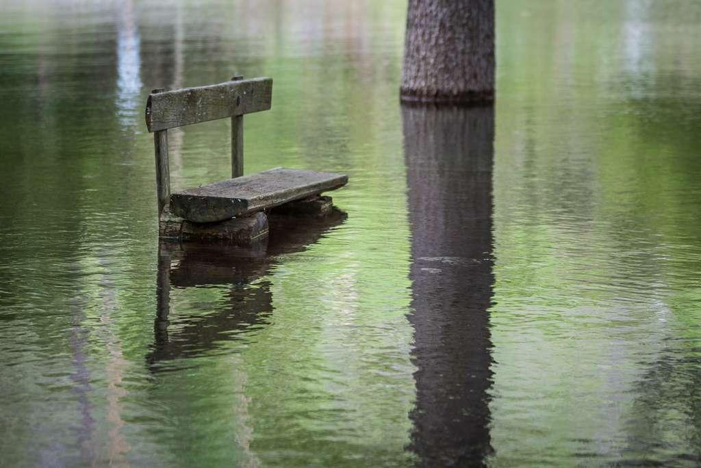 Le banc du Grüner See, ou lac Vert, bientôt sous les eaux