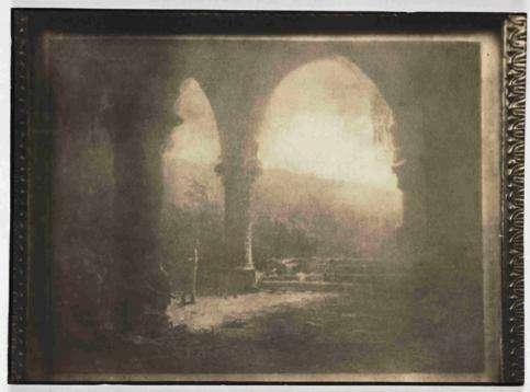 L'une des toutes premières héliographies sur étain, 1827. © Joseph Niépce, Maison-Musée Nicéphore Niépce