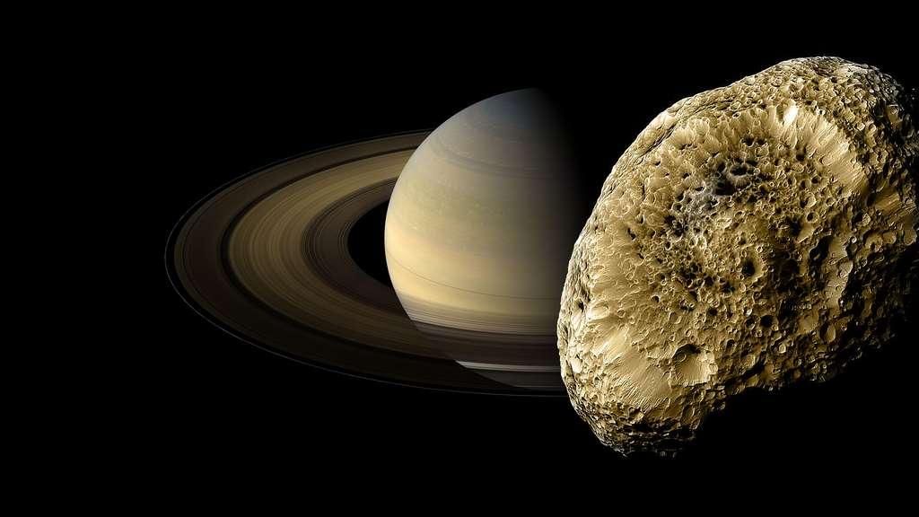 Hypérion, une lune de Saturne