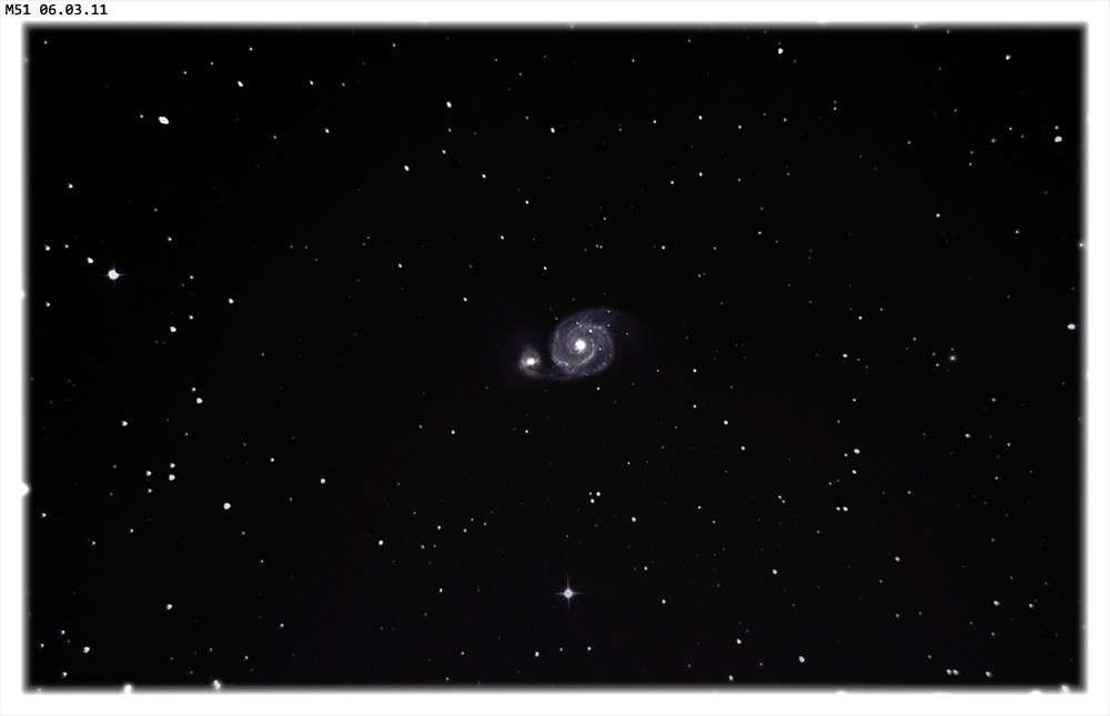 La galaxie spirale M 51 photographiée il y a quelques semaines sans sa supernova. © J.-C. Baudevin