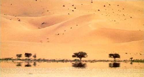 Mirage dans le désert. © Reproduction et utilisation interdites