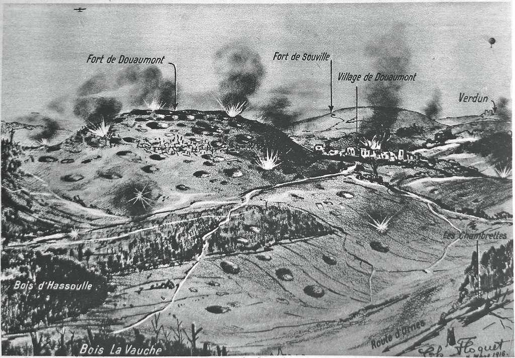 Une carte des forts de Douaumont et des villages. © Garitan, Wikimedia Commons, DP