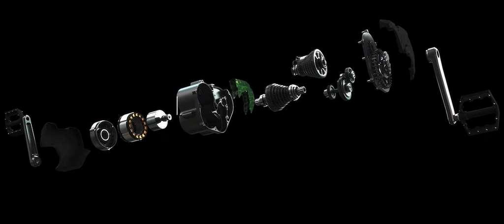 Le module Smart e-Bike System de Valeo se compose d'un moteur 48V, d'un calculateur et de la boîte de vitesse Effigear à sept rapports. © Valeo