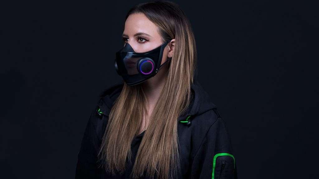 À l'intérieur du masque, des contours en plastique pour une tenue parfaite au niveau du menton et du nez. © Razer