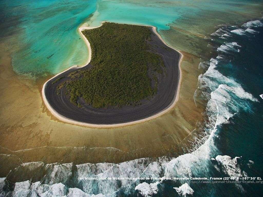 Ilot Nuami, atoll de Nokan Hui au sud de l'ile de Pins, Nouvelle-Calédonie