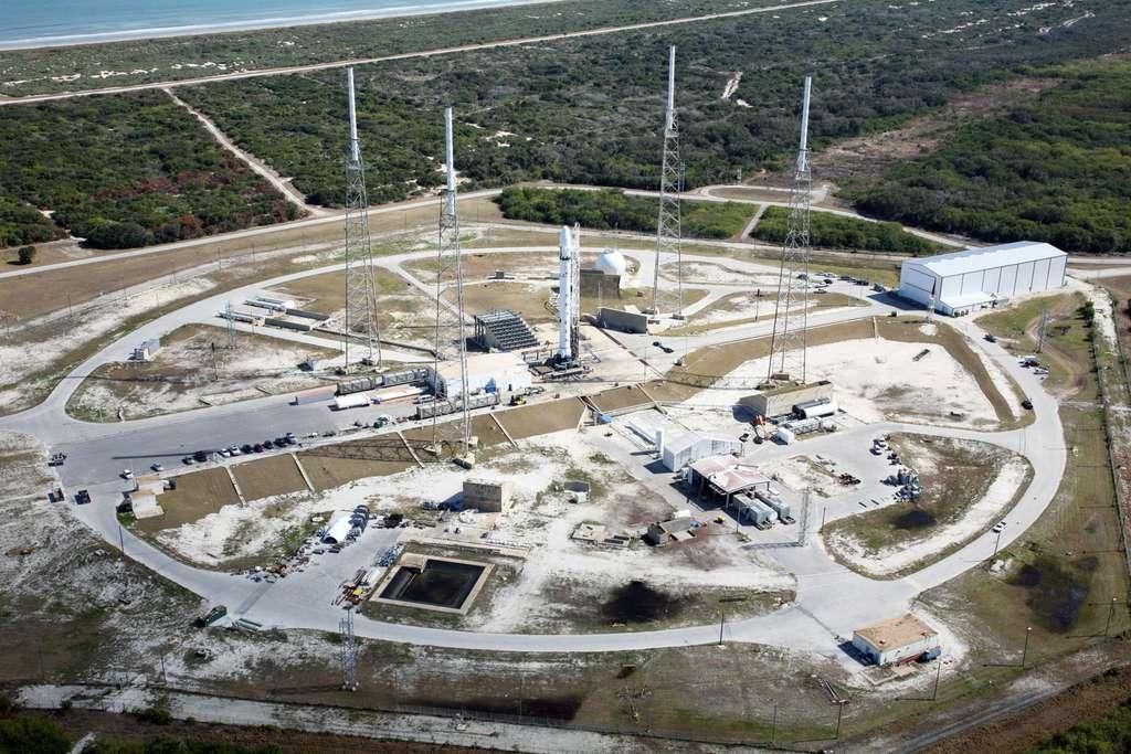Le site de lancement de SpaceX, à Cap Canaveral en Floride, devrait être inauguré avec le lancement du Falcon 9 v.1.1. © SpaceX, Roger Gilbertson