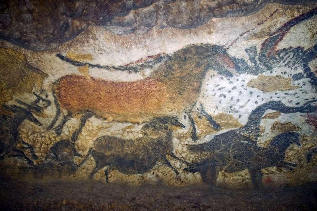 Reproduction des peintures de la grotte de Lascaux. © Jack Versloot, Wikimedia commons, CC 2.0