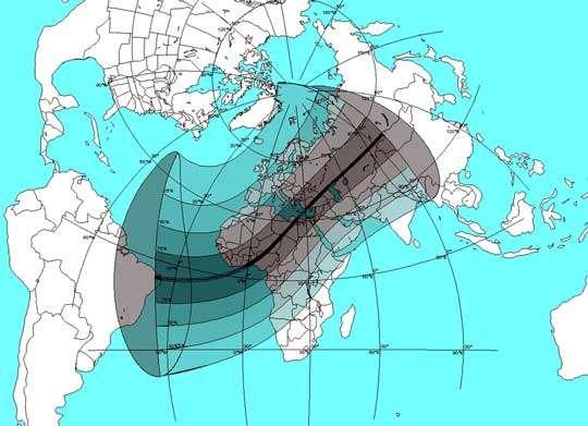 C arte générale de l'éclipse du 29 mars 2006 - © : Philippe Morel, SAF - Reproduction et util