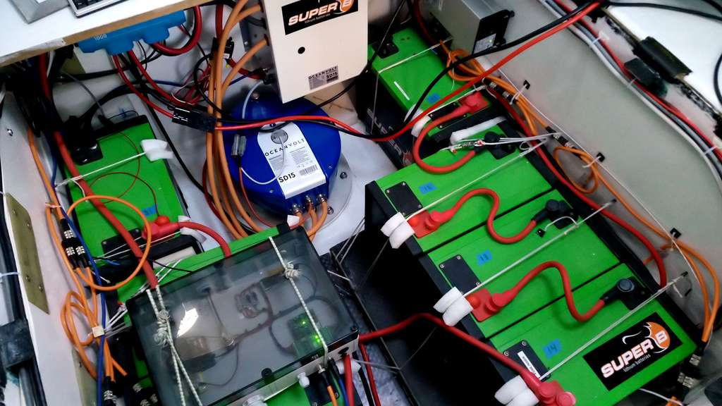 Les batteries du bateau de Conrad Colman : une technologie lithium fer phosphate