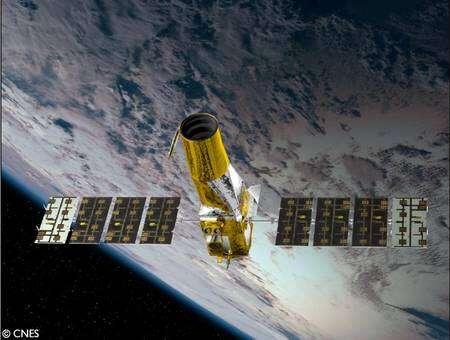 Le satellite Corot. Cliquez pour agrandir. Crédit : Cnes