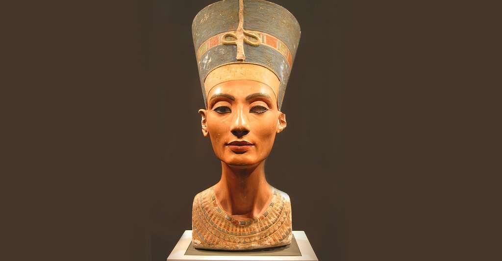 Visage de Néfertiti, épouse d'Akhenaton et reine d'Égypte. © Magnus Manske, CC by-sa 3.0