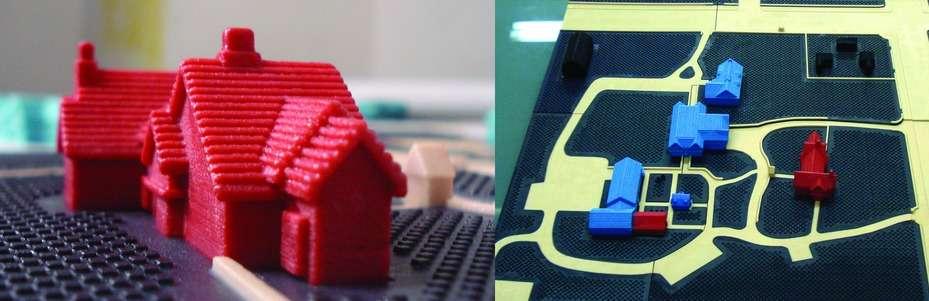 Les cartes en 3D palpables ont été testées sur plusieurs sites, dont un campus nord-américain qui a été reproduit à partir de données Google Maps et fabriqué avec une imprimante 3D. © University at Buffalo IDeA Center