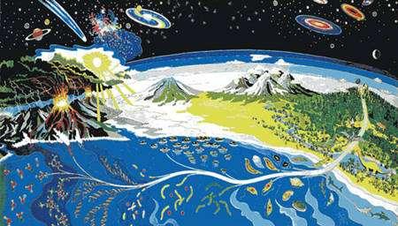 Représentation de la Terre primitive. Comment la vie y est apparue ? Et comment celle-ci est-elle née dans l'univers ? © Nasa