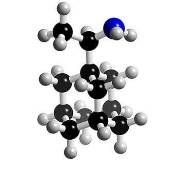 Structure 3D des inhibiteurs de la protéine M2 : la rimantadine. © 2005-2006 Karl Harrison, reproduction et utilisation interdites