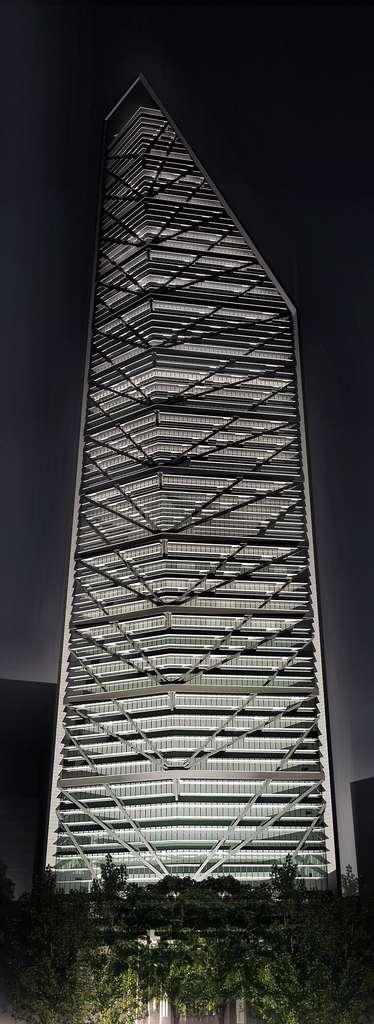 La Torre Reforma s'élève à quelque 246 mètres de haut dans le ciel de Mexico. © Torre Reforma