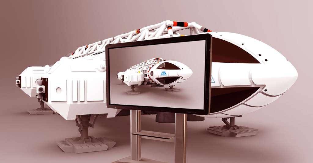 Le LCD a permis de réaliser des écrans plats de télévision. © Royeligio CC BY-SA 4.0 + Dd music - Domaine public
