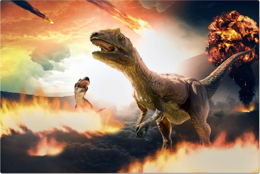 Illustration de la dévastation sur Terre causée par l'impact de l'astéroïde. © serpeblu, Adobe Stock