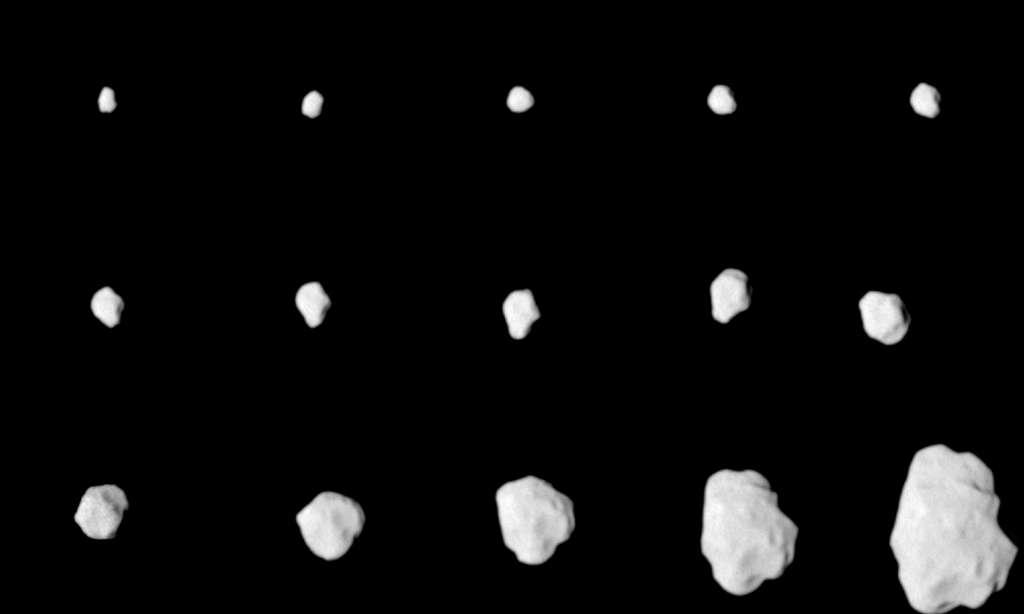 Samedi 10 juillet 2010, la sonde Rosetta s'est approchée à 3.162 kilomètres de l'astéroïde Lutetia, mesurant 130 kilomètres dans sa plus grande dimension. Ses instruments de bord, dont le système d'imagerie Osiris, ont été réveillés pour recueillir le maximum de données sur ce corps très ancien, donc précieux pour comprendre la formation du Système solaire. © Esa