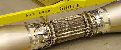 Ce détecteur silicium, conçu par Subatech pour l'accélérateur de particules américain RHIC, permet de traquer les particules à très faible durée de vie lors des collisions d'ions lourds. © Subatech