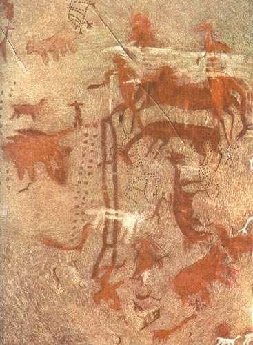 Figure 2 : scène de chasse, Toquepala (dép. d'Arequipa). © P. Rojas Ponce, reproduction et utilisation interdites