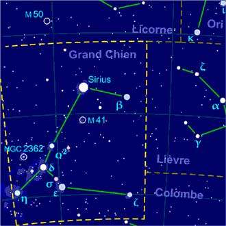 Constellation du Grand Chien © Grum Wikipedia