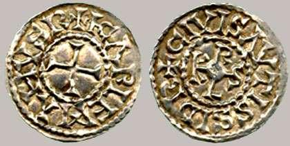 Denier d'Auxerre, Ag, IXe ap. J.-C.