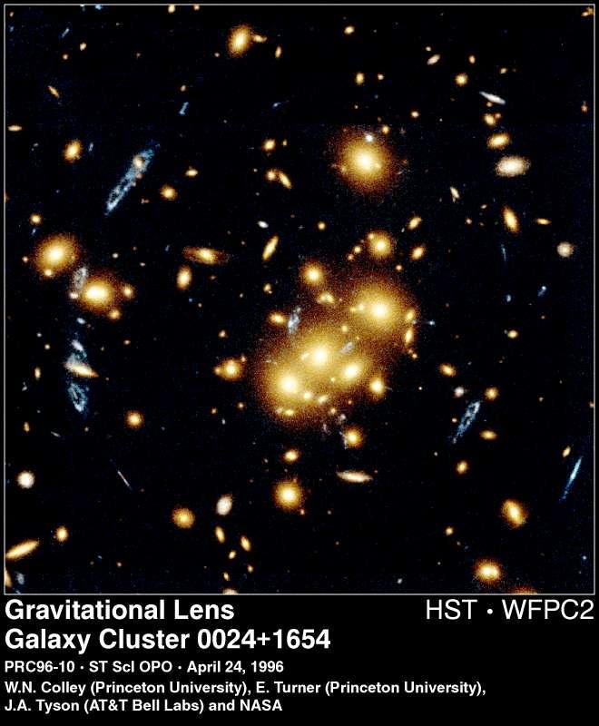 lentille gravitationnelle dans 0024 1654
