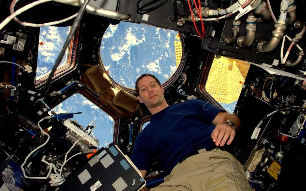 Thomas Pesquet dans la Station spatiale. © ESA, Nasa