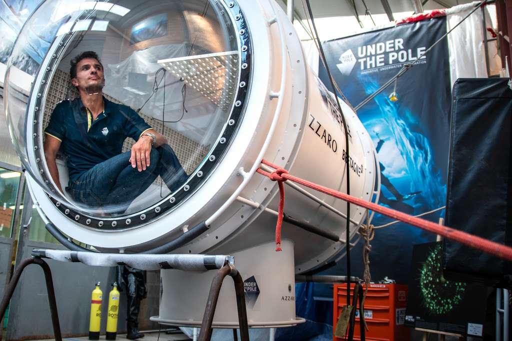 Le programme Capsule de la mission Under The Pole vise à réaliser des immersions continues pouvant atteindre plusieurs jours. © Quentin Mateus, Under The Pole, Zeppelin Network